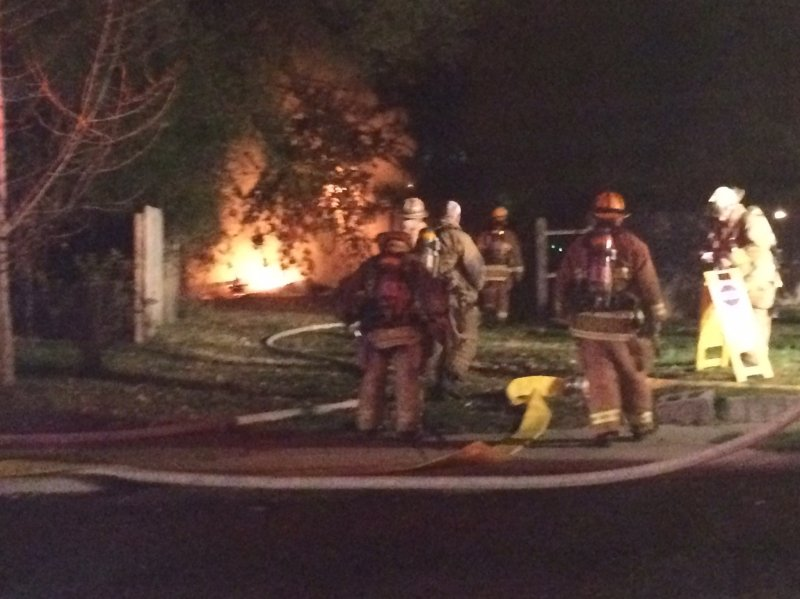 Late Night Shed Fire in Thorofare